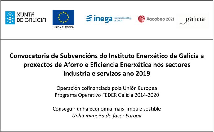 INEGA Subvención Eficiencia Enerxética 2019