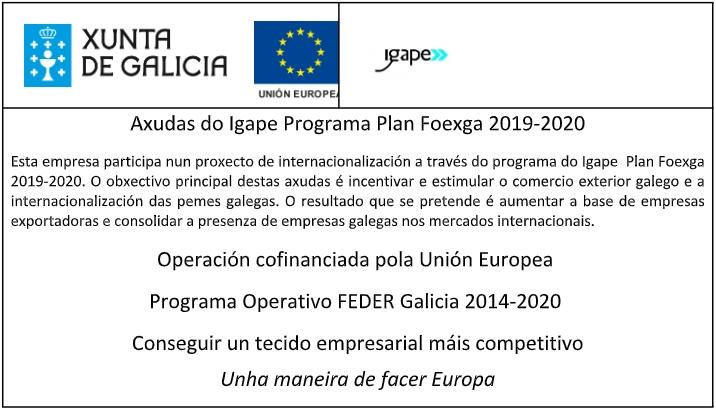 Axudas do Igape Programa Plan Foexga 2019-2020